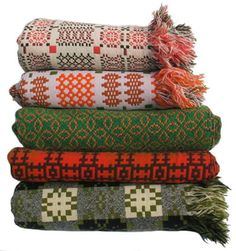 love these blankets (top one is a vintage Melin Tregwynt woven over 40 years ago)