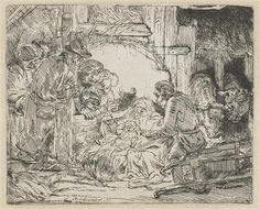 Nativity - Rembrandt - Completion Date: 1654