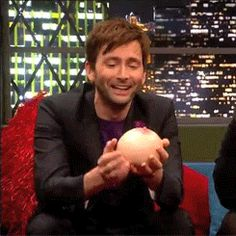The gift of one boob. | 23 Gifts David Tennant Has Graced The World With