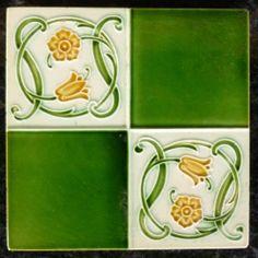Jugendstil Fliese Art Nouveau Tile Tegel England Top RAR Tegel SCHÖN | eBay Art Nouveau Tiles, Art Nouveau Design, Art Deco, England Top, Traditional Tile, Vintage Tile, Tile Art, Fun Projects, Arts And Crafts