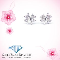 Embrace your unique beauty with this sparkling diamond earring. 14K white gold with Belgium cut diamond.