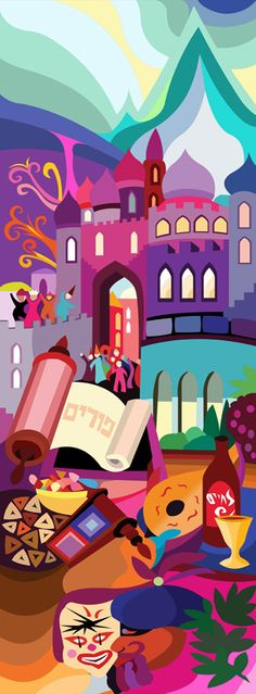 In the coming week we will celebrate the holiday of Purim, this is a design dedicated to the  Feast of Purim by Bracha Lavee