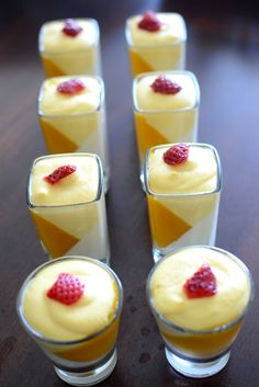Want to make a dessert that is really easy to make and would earn you lot of accolades…..Pannacotta it is then….I love mangoes and got a can of puree recently…So thought to pair a mango mousse with pannacotta….It came out delicious….I made it in shot glasses and it was perfect size for a single serving….So …