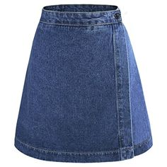 Vintage Fashion Los Angeles yichaoyiliang Summer Short Skirt Basic A Line High Waisted Denim Skirt for Women.Vintage Fashion Los Angeles yichaoyiliang Summer Short Skirt Basic A Line High Waisted Denim Skirt for Women Denim Skirt Winter, A Line Denim Skirt, High Waisted Denim Skirt, Denim Skirts, Nyc Fashion, Denim Fashion, Urban Fashion, Fashion Design, Classy Fashion