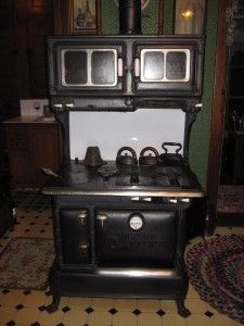 Working 1918 gas/coal/wood stove. A piece of tangible history.