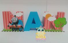 Letras 3D Thomas e seus Amigos