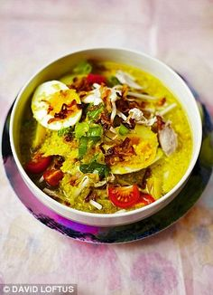 Soto Ayam (Indonesian Chicken Soup) - Jamie Oliver via dailymail