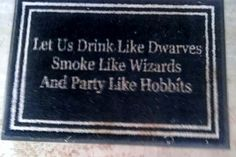 Lord of the Rings Welcome Mat