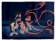 """Ghostbusters illustration """"they ain't afraid of no ghosts """" Ghostbusters 2016, The Real Ghostbusters, Movies Showing, Movies And Tv Shows, Oh My Heart, Kate Mckinnon, Ghost Busters, Character Design, Character Art"""