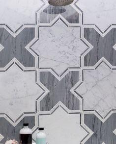 Meraki Bardiglio And Carrara Marble Tile! #floortile #carrara #marble #shadesofgray