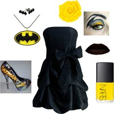 A fashion look from April 2013 featuring Retrò necklaces. Browse and shop related looks. Batman Love, Batman And Batgirl, Batman Stuff, Batman Dress, Batman Outfits, Unique Prom Dresses, Beautiful Prom Dresses, New Outfits, Cute Outfits