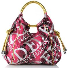 Ed Hardy Purses | Home >> Ed Hardy>> Handbags>> Female Emblem Tina Hobo Bag Pink
