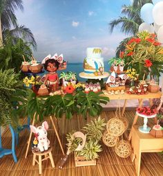 Kikids Party by Kiki Pupo: Festa Moana por 🌴🌺 . Moana Theme Birthday, Moana Themed Party, Moana Party, Luau Birthday, 6th Birthday Parties, Birthday Ideas, Aloha Party, Luau Party, Festa Moana Baby