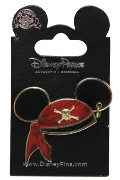 Disney Pin #47059: WDW DLR - Mickey Mouse Ear Hat - Pirates of the Caribbean @ niftywarehouse.com