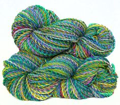 Handspun Yarn handdyed superwash Merino wool and by FeltStudioUK