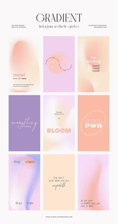 Instagram Feed Layout, Instagram Post Template, Instagram Posts, Instagram Gradient, Flower Boutique, Web Layout, Graphic Design Tutorials, Social Media Template, Quote Aesthetic