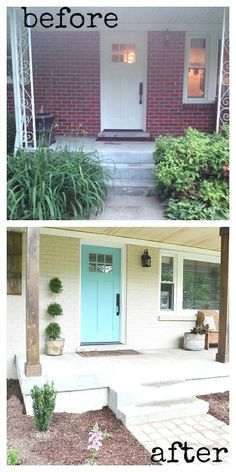 After a hard Winter, Beneath My Heart blogger Traci partnered with Lowe's to give a dated, weather-battered Nashville home's exterior a much-needed Spring