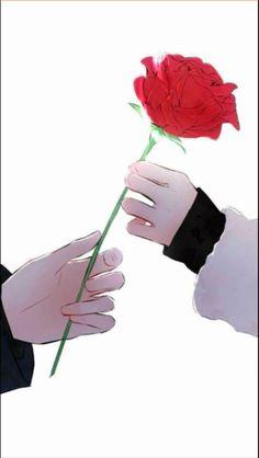 63 Trendy Ideas For Flowers Drawing Blue Anime Art - Anime - Blumen Art Anime Fille, Anime Art Girl, Anime Love Couple, Couple Art, Art Floral, Anime Hand, Art Bleu, Blue Anime, Anime Muslim