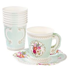 Truly Scrumptious Afternoon Tea Party Cups with Handles - Party Ark