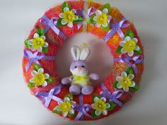 Spring Wreath ideas for gifts easter rabbit easter gifts wreaths easter wreaths spring wreaths 29.00 USD #goriani