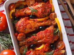 Roasted Peppers and Chicken Casserole