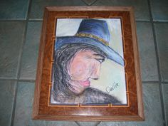 JUST COMPLETED, WESTERN CHARACTER DONE IN PASTELS BY TEXAS ARTIST, 12X16 IN 17.5X21 FRAME UNDER GLASS.  FINE ART ON ETSY AT UINMIND. GO TO ETSY WHERE IT SAYS HAND MADE HIT THE ARROW BOX, HIT PEOPLE AND PUT IN MY LOGO: UINMIND THEN HIT RETURN