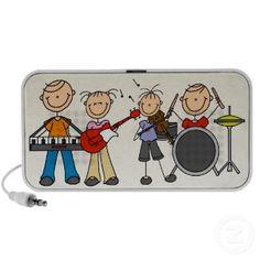 Stick figures musical doodle speaker