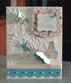 Birthday Card Stampin Up Elementary Elegance by WhimsyArtCards, $5.00