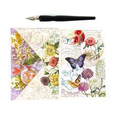 Gorgeous Whimsical Purple Butterfly Card with Envelope | Todo Papel