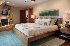 10 Rustic and Modern Wooden Bed Frames for a Stylish Bedroom - 4homedecoration