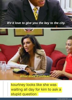 funny tumblr comments- Kim is an idiot