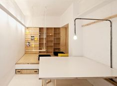 Cleverly Designed Transforming Tiny Studio by Vora Arquitectura