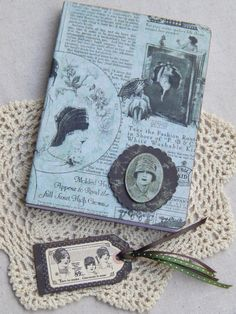 20's Era Advertisement Journal Hard Cover with by MsBittyKnacks