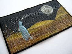 Stitched Moon Gazing Hare by the blue hare, via Flickr