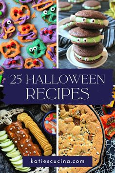 Looking for a sweet treat to make on Halloween? I found 25 Halloween Dessert Ideas from beginner to advanced levels that have all things creepy, spooky, and downright petrifying! Bats, cats, ghosts, and monsters transform some of the sweetest desserts on the web! #halloweenfood #halloweendesserts