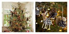 idées de déco de sapin de Noël naturel