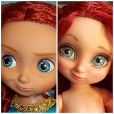 image Disney Toddler Dolls, Disney Princess Dolls, Disney Dolls, Ooak Dolls, Blythe Dolls, Art Dolls, Realistic Face Drawing, Disney Animator Doll, Monster High Custom