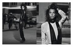 Daria Werbowy takes to the city streets for the spring 2011 campaign from Joseph. Lensed by Peter Lindbergh with styling by Marie-Amelie Sauvé… Daria Werbowy, Peter Lindbergh, Best Model, Fashion Photo, Joseph, Campaign, Spring, Coat, Style