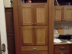 Dad's cabinets - cherry