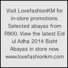 Visit LovefashionKM for in store promotions www.lovefashionkm.com