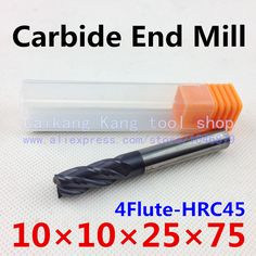 $14.67 (Buy here: https://alitems.com/g/1e8d114494ebda23ff8b16525dc3e8/?i=5&ulp=https%3A%2F%2Fwww.aliexpress.com%2Fitem%2FHead-10mm-CNC-mills-tungsten-steel-cutter-alloy-cutter-engraving-cutters-Cutting-Hardness-45HRC-4F10-10%2F2025089638.html ) New 4 Flute Head:10mm Tungsten steel cutter CNC milling Carbide End mills Highest cutting hardness: 45HRC 4F 10*10*25*75mm for just $14.67