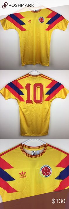 Adidas Colombia 1990 World Cup  10 Size 2XL Adidas Colombia 1990 World Cup  Carlos Valderrama 9516c55f2