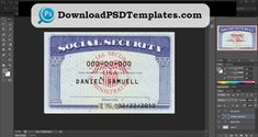 Social Security Card Number Editable Creator Maker Psd Photoshop Ssn Fake Card Templates Free Social Security Card Business Card Template Word