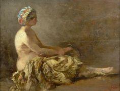 Woman with turban, by Felix Ziem