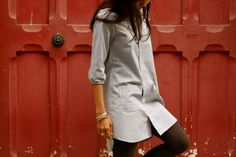 Men's shirt refashion by Curry Made, via Flickr
