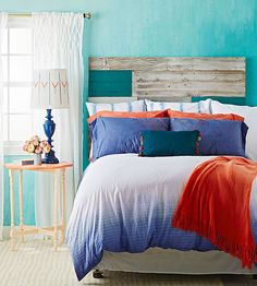 Repurpose barn boards into a new headboard with a modern twist! Get the how-to here: http://www.bhg.com/rooms/bedroom/headboard/cheap-chic-headboard-projects/?socsrc=bhgpin032215salvagemademodern&page=6