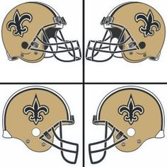 New Orleans Saints Helmet Logo Iron On Sticker