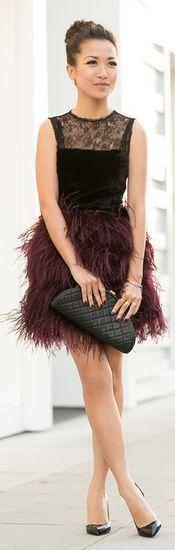 #Triple #Textures  #Lace #Velvet  #Burgundy #Feathers