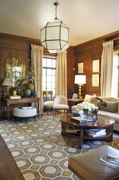 when its right to NOT paint the paneling.  Love this space!