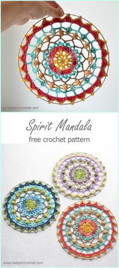 Crochet Spirit Mandala Free Pattern -Crochet Dream Catcher Free Patterns